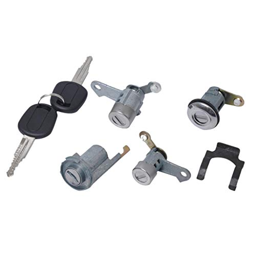 FLAMEER Set for Front Door Lock Cylinder Fits Buick Excelle 2007-2012(Left & Right)