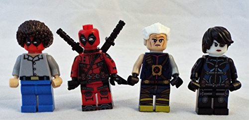 Deadpool 2 Movie Set of 4 Mini Figures with Deadpool, Domino, Cable and Bob Ross Deadpool