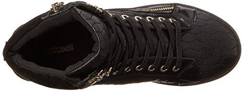 Di Nero Donna Cavalli Texture Sneaker Serpente Just Di Moda Trapuntatura z5wxpTS