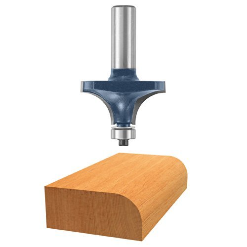 BOSCH 85434M 2-Inch Diameter 3/4-Inch Cut Carbide Tipped Roundover Router Bit 1/2-Inch Shank With Ball Bearing