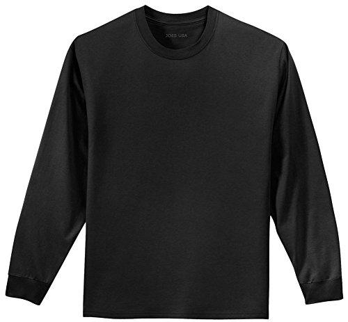 Joe's USA Youth Long Sleeve Heavyweight Cotton T-Shirts,Jet (Hawaiian Minion Costume)