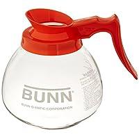 Decantador de café de vidrio BUNN de 12 tazas, naranja (42401.0101)