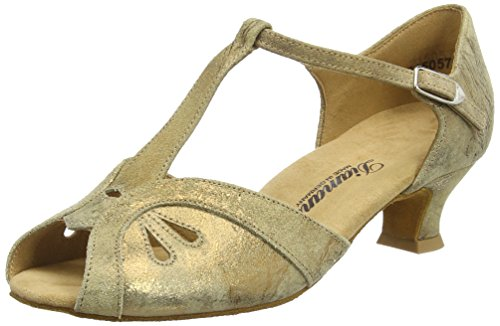 de Diamant Marron Damen Salon Braun Chaussures Danse Femmes Bronze Tanzschuhe Magic de qXqar