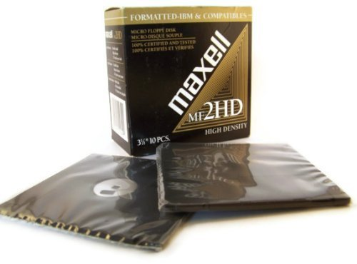 Maxell MF2HD 3.5'' Floppy Disk (10 pack) by Maxell