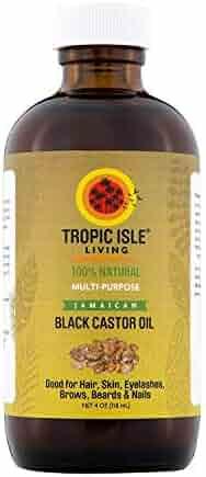 Tropic Isle Living Jamaican Black Castor Oil Glass Bottle (4 oz)