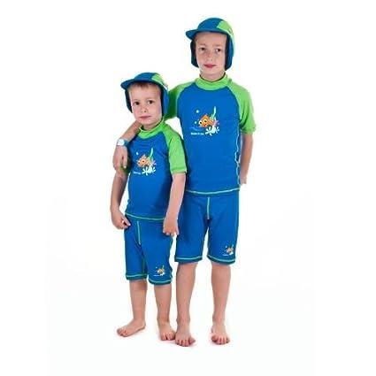 0da31b610a Amazon.com: Boys size 6 Sun UV Protective Rashguard Swimsuit swim shirt & shorts  SPF+50 Swim Suit for Kids Age 6 Years Old: Toys & Games