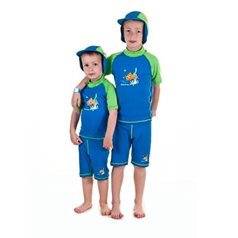 9681a20a1 Amazon.com: Boys size 6 Sun UV Protective Rashguard Swimsuit swim shirt &  shorts SPF+50 Swim Suit for Kids Age 6 Years Old: Toys & Games