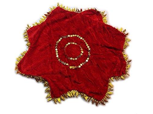Chinese Dancing Velvet Handkerchief Hanky Dance Accessory (Red)