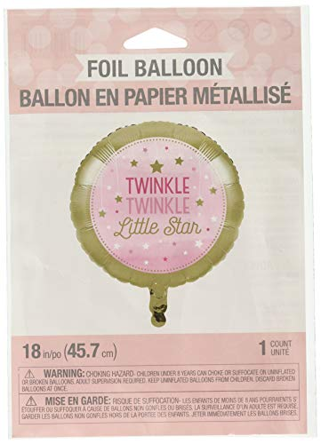 Creative Converting 322267 Twinkle Little Star Pink Foil Balloon Party Supplies, One Size, Multicolor]()