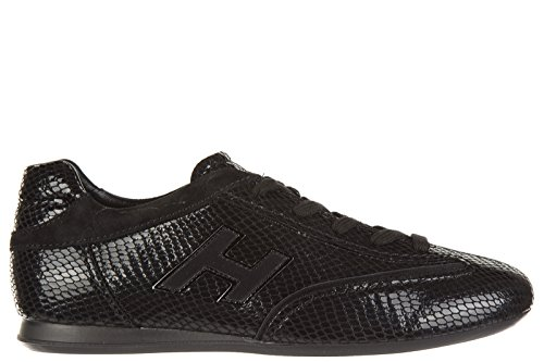 Pm Donna Olympia Sneakers Gregge Pelle Hogan In Nero Sneakers qxwTn4fSX