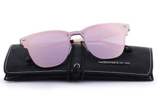unique Pink soleil de Lunettes Mirror Homme MERRY'S taille xZ8Pq6