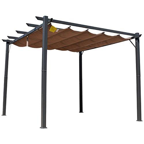 Outsunny 300 X 300cm Aluminium Pergola Canopy Gazebo Awning Outdoor Garden Sun Shade Shelter Marquee Party BBQ
