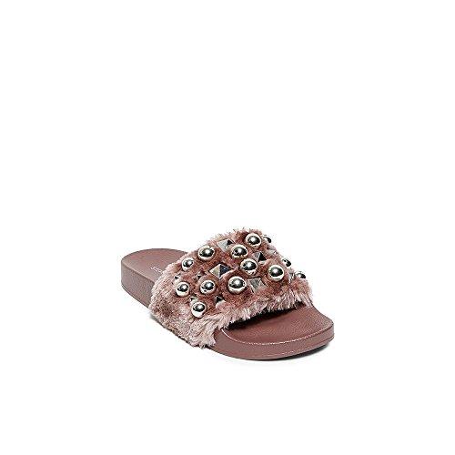 Steve Madden Yeah Slide Sandals Pink Mauve v6HVX5V9