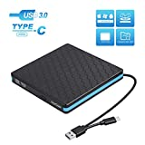External Optical Drive, CD DVD Drive with USB 3.0 Type C, CD -ROM Reader VCD -RW Burner Writer for PC Desktop Laptop MacBook [Not for Chromebook]