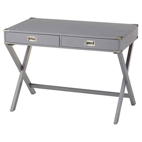 Frost Finish Desk - Marotta Writing Desk, Home Office Desk (Frost Grey)