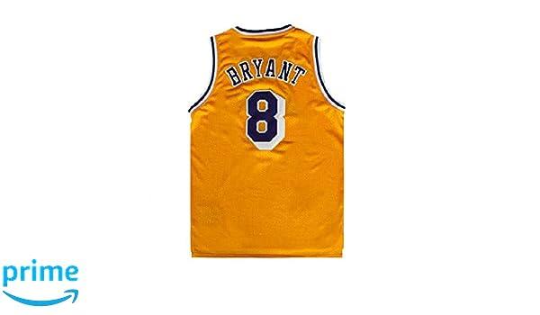 e9e9709c9 Amazon.com  Gseras Youth Kobe Jersey Kid s Retro Jerseys Los Angeles 8  Boy s Basketball Jersey Yellow  Clothing