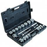20 Piece SAE 3/4 inch Jumbo Heavy Duty Socket Set with Storage Case