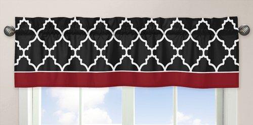 Red, Black and White Trellis Collection Window Valance by Sweet Jojo Designs B00LLK791Q