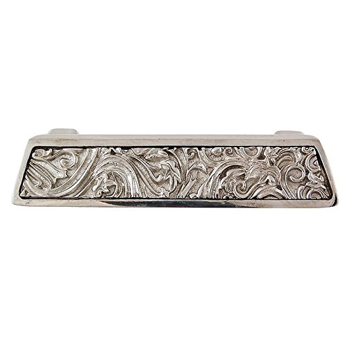 Polished Nickel Vicenza Designs P1251 Liscio Leaves Finger Pull