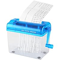 Manual Paper Shredder, A6 Folded A4 Portable Mini Paper Hand Cut Shredder for Office Home School(Blue)
