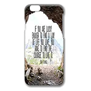 Iphone 6 Case, Iphone 6 white case easily to remove,without damaging or scratching the phone body, an Screen Protector, Scratch-Resistant Slim Clear Case, Hard PC Iphone 6 Protective Case for Ultimate Protect Iphone 6 Design with love the life you live quote by Maris's Diary