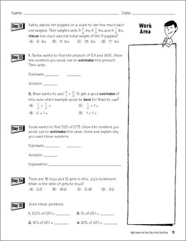 Amazon.com: Math Starters For Every Day Of The School Year ...