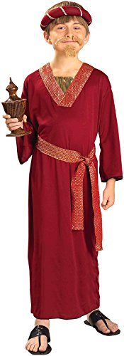 Forum Novelties Biblical Times Burgundy Wiseman Child Costume, Large (Christmas Nativity Costumes)