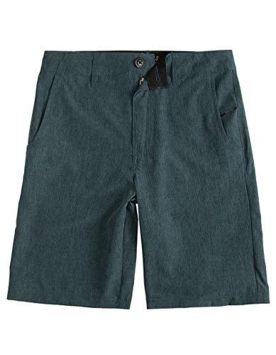 NITROUS BLACK Format Teal Blue Boys Hybrid Shorts, Teal Blue, - Nitrous Blue
