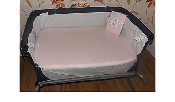 2 x bebé cuna sábana bajera ajustable para Chicco next2me ...