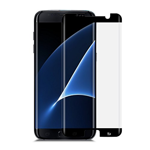 Samsung Galaxy S8 Screen Protector TANAAB [9H Glass][Case Friendly][3D Curved Protection][Ultra HD][Anti-Bubble] - Black