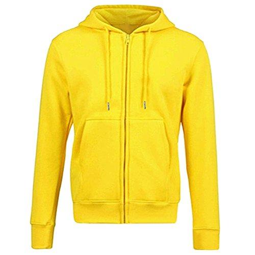 Samtree Women's Drawtring Hoodie Zip Up Sweatshirt Sport Fleece Jacket(L(10-12),Yellow)