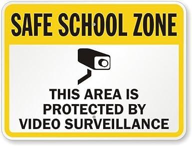 Amazon.com: Seguro escuela zona: esta zona está protegida ...