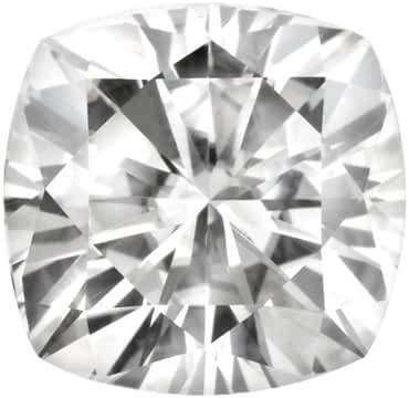 8.0 MM Cushion Cut Forever Brilliant Moissanite by Charles & Colvard 81 Facets - Very Good Cut (2.15ct Actual Weight, 2.40ct. Diamond Equivalent Weight)