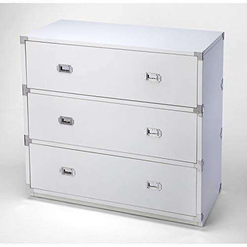 Butler Anew 3-Drawer Campaign Chest in White