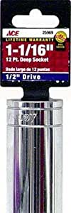 Ace 1/2 Drive 6 Point Deepwell Socket (25969)