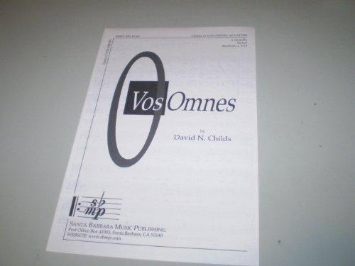 - O Vos Omnes SHEET MUSIC acappella