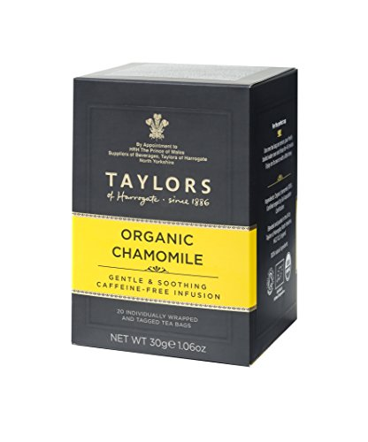 Taylors of Harrogate Organic Chamomile Herbal Tea, 20 Teabags - Organic Chamomile White Tea
