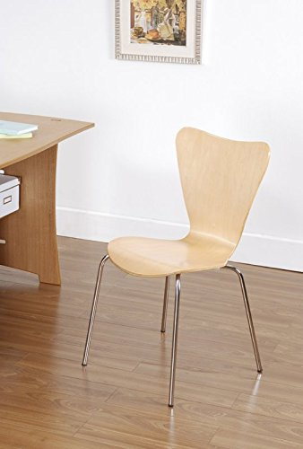 Kids Desk Chair - Children, Toddler Room Modern Furniture - Sturdy Bent Plywood Seat (Natural) by Simple Living Products