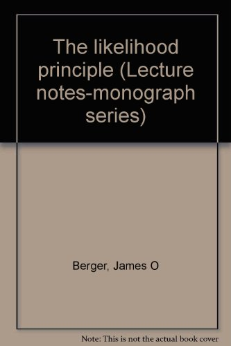 The likelihood principle (Lecture notes-monograph series)
