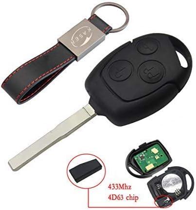 Klapp Schlüssel Fernbedienung 433 Mhz 4D63 HU101 für Ford Mondeo C Max S Max