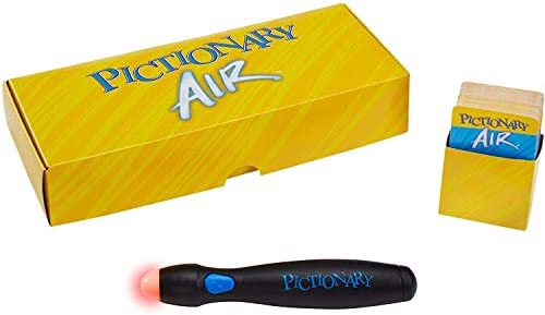 Mattel Games Pictionary Air Drawing Game, Family Game with Light-up Pen and Clue Cards, Links to Smart Devices, Makes a Great Gift for 8 Year Olds and up