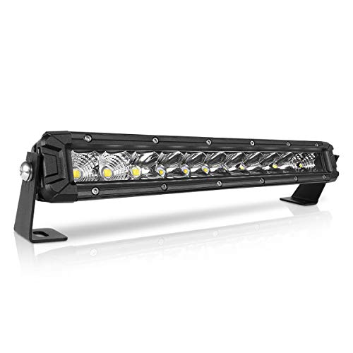 Rigidhorse 12 Inch LED Light Bar Single Row Flood & Spot Beam Combo 10000LM Off Road LED Light Bar Driving Light for Pickup SUV ATV UTV Truck Roof Bumper