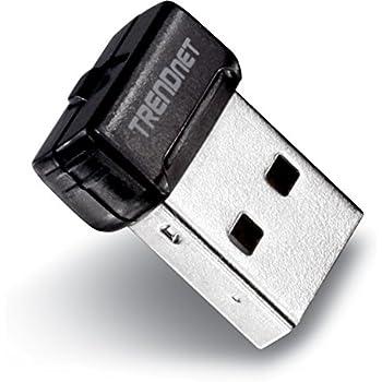 TRENDnet Wireless N 150 Mbps Mini USB 2.0 Adapter, Upgrad your Laptop or Desktop to Wireless N, WPS, QoS, TEW-648UBM