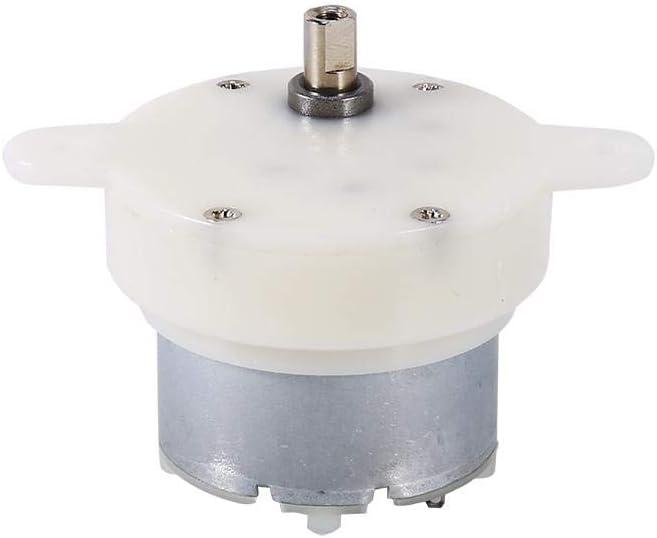 12v DC Alto par Motor Velocidad Lenta Motor Eléctrico Caja de Engranajes 3 RPM 4 mm Diámetro del eje Micro Desaceleración Motor Mudo