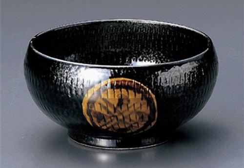 引出 黒丸紋 土物 17cm 麺鉢10点セット そば、うどん、冷麺、丼として   B00LNS223Q