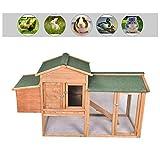 GOJOOASIS Outdoor Wooden Chicken Coop Hen House