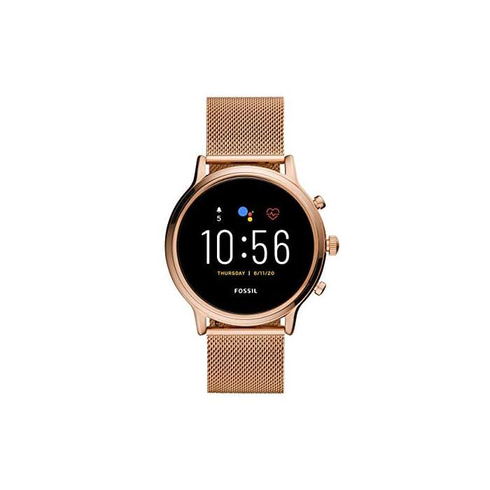 41YNXfJd6NL Los smartwatches que funcionan con la tecnología WearOS by Google funcionan con teléfonos iPhone1 y Android Funciona varios días con una carga de batería ampliada Seguimiento de actividad y frecuencia cardíaca, GPS incorporado para seguimiento de distancias, diseño apto para nadar