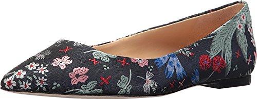 Sam Edelman Womens Rae Pointed Toe Flat Grey Multi Floral Jacquard tiPmE7