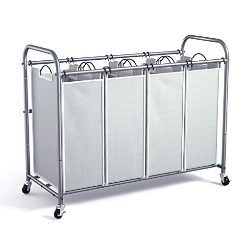 WeHome 4 Bag Laundry Sorter Cart
