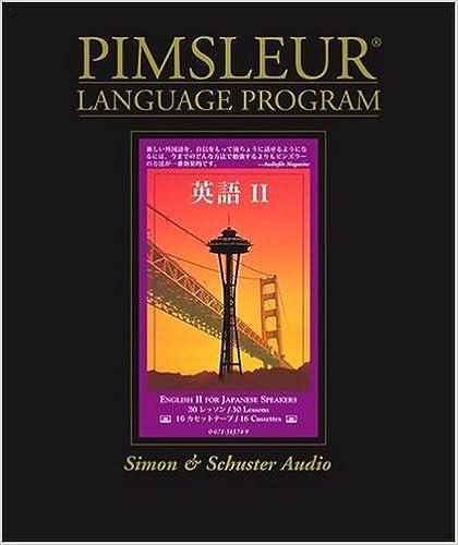 Amazon Com English For Japanese Speakers Ii Pimsleur Language